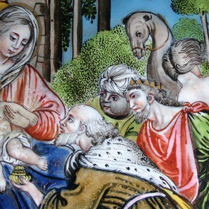 l'Adoration des Mages - émail peint